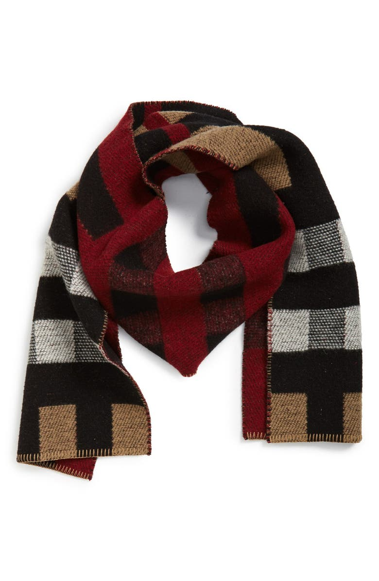 BURBERRY Mega Wool & Cashmere Blanket Scarf, Main, color, HOUSE CHECK