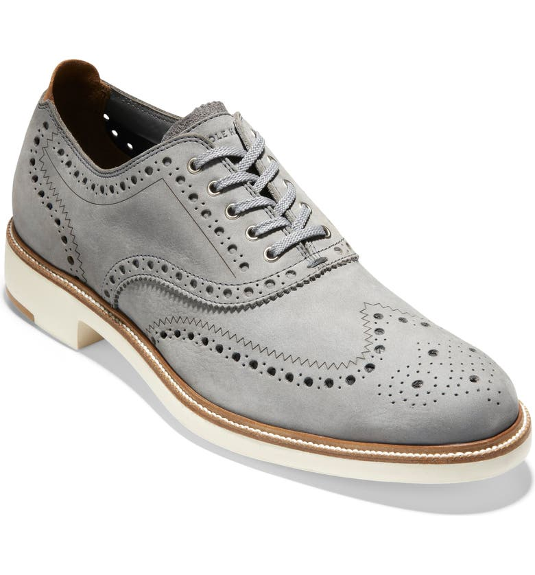 COLE HAAN 7 Day Wingtip Oxford, Main, color, IRONSTONE