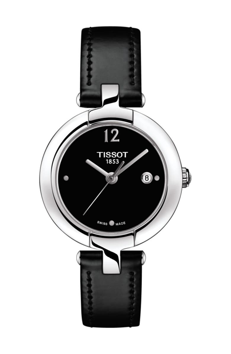 TISSOT Women's Pinky Leather Watch, 27.95mm, Main, color, NO COLOR