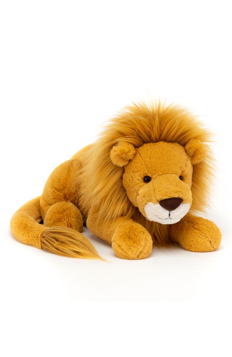 JELLYCAT Large Louie Lion Stuffed Animal, Main, color, YELLOW