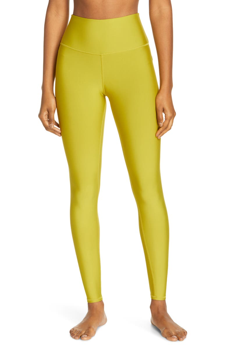 ALO Airlift High Waist Leggings, Main, color, CHARTREUSE
