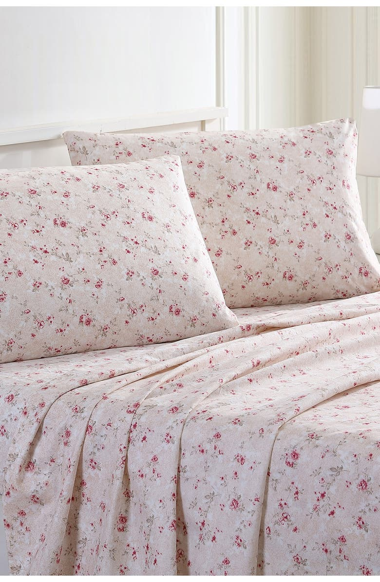 MODERN THREADS Printed 4-Piece Sheet Set - Forever Roses - King, Main, color, FOREVER ROSES