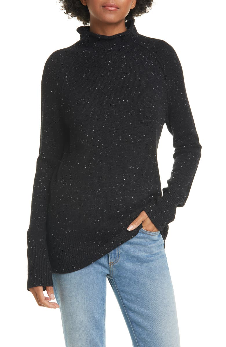 THEORY Karinella Donegal Tweed Cashmere Sweater, Main, color, 001