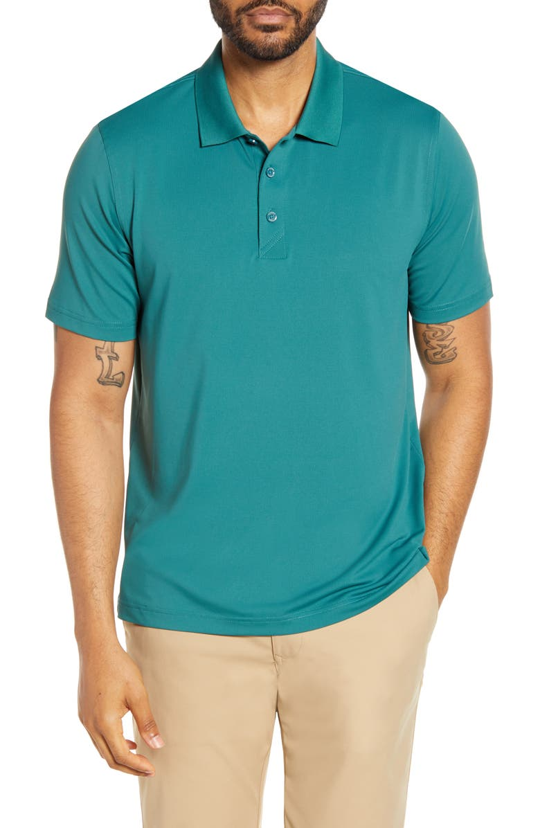 CUTTER & BUCK Forge DryTec Solid Performance Polo, Main, color, SEAWEED