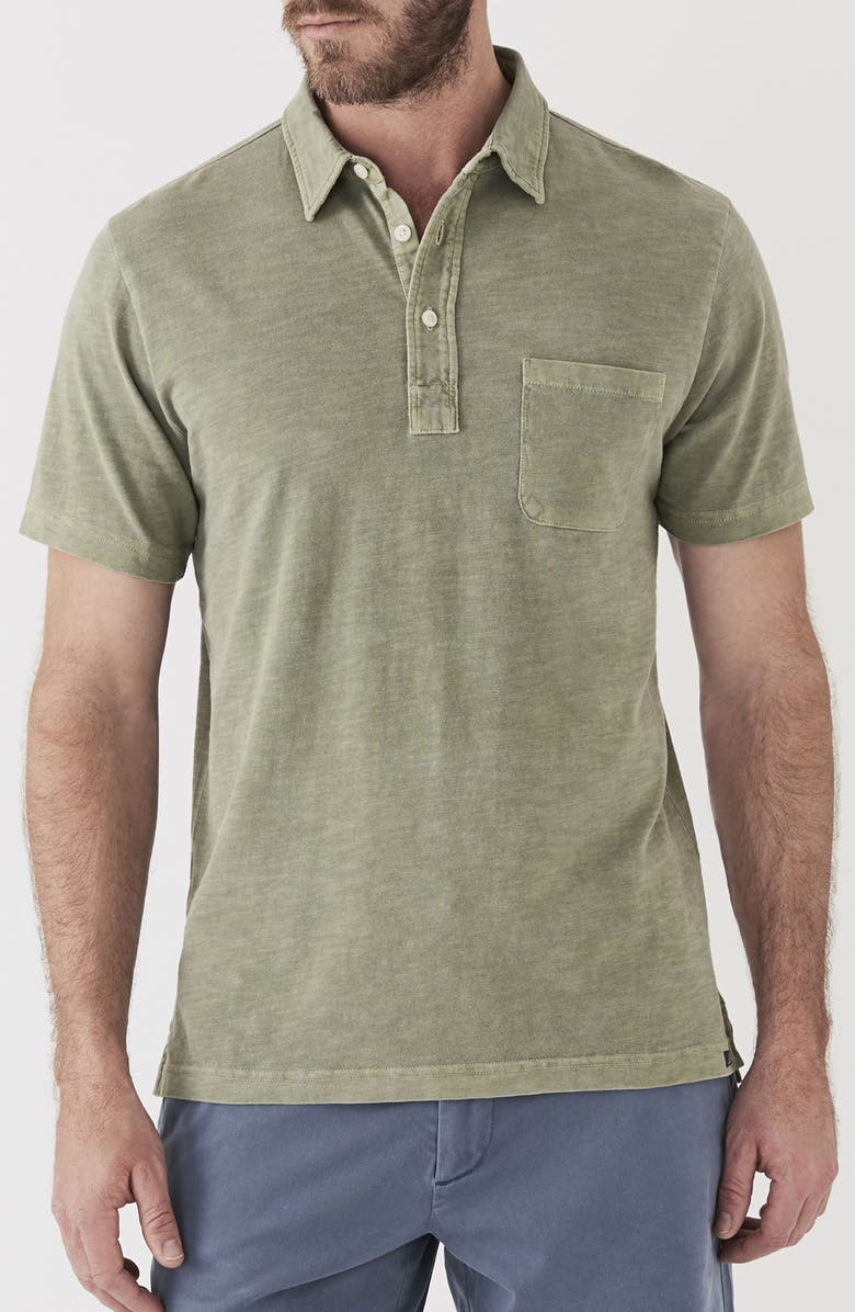 FAHERTY BRAND Sunwashed Polo, Main, color, SPRING OLIVE