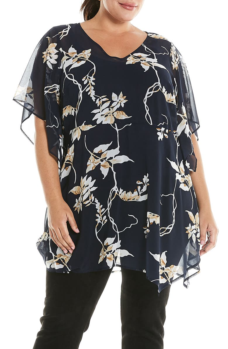 ESTELLE Vine Print Top, Main, color, 001