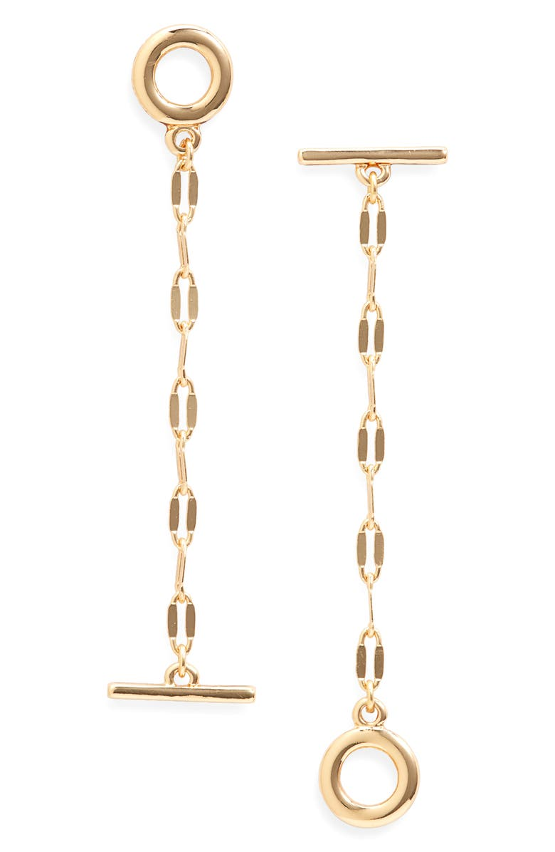 NORDSTROM Mismatched Drop Earrings, Main, color, GOLD