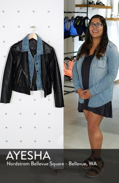 The Cool Kid Faux Leather Moto Jacket, sales video thumbnail