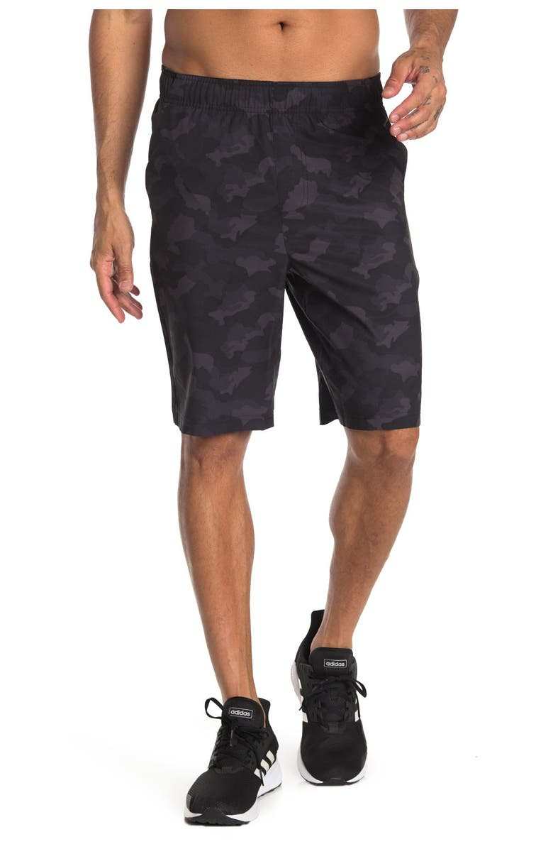 90 DEGREE BY REFLEX 4-Way Stretch Performance Shorts, Main, color, P578 CAMO BLACK COMBO