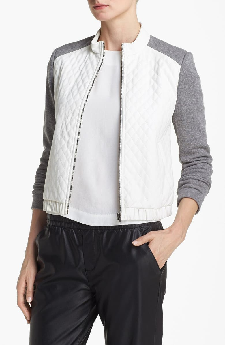 MURAL Quilted Bomber Jacket, Main, color, 100