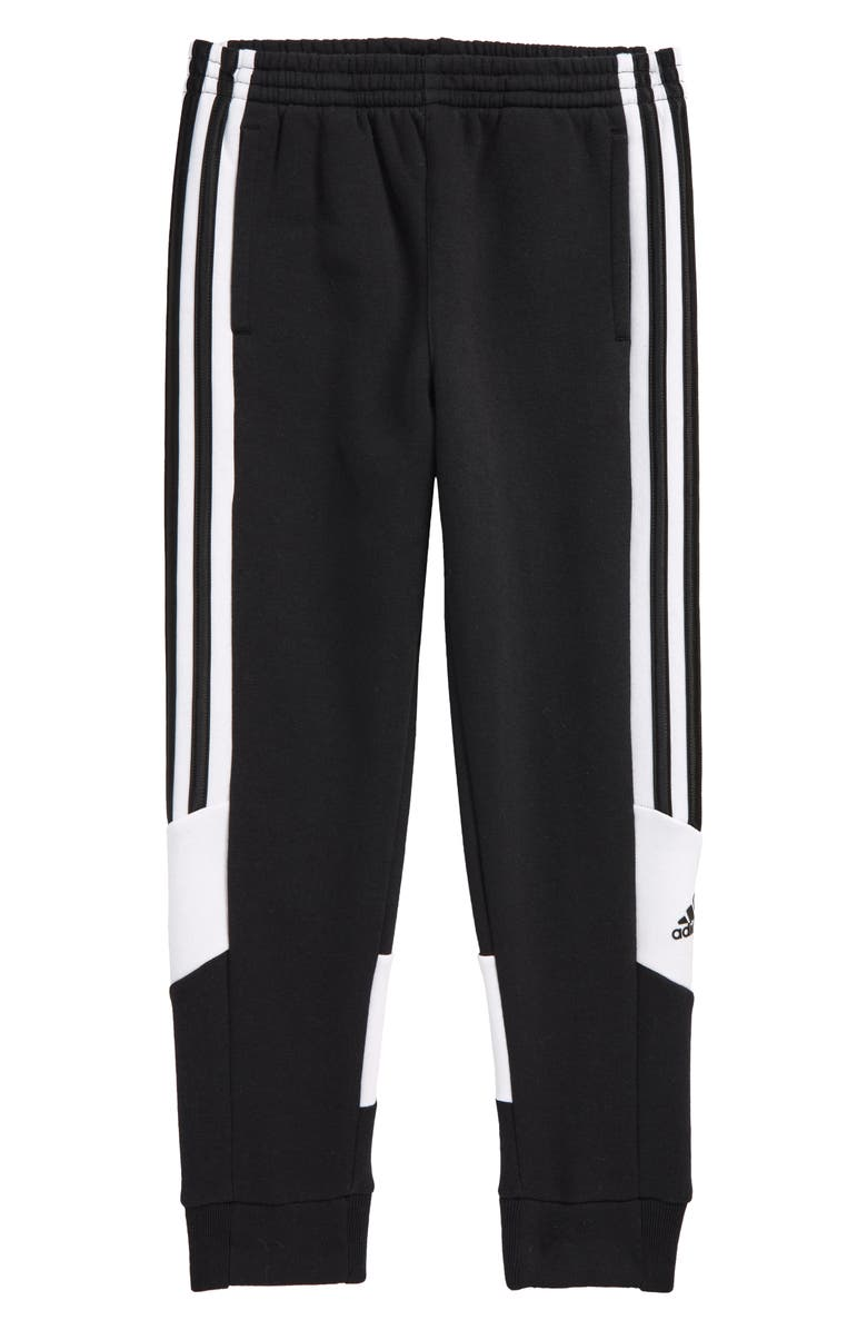 ADIDAS Kids' Badge of Sport 3-Stripes Joggers, Main, color, 001