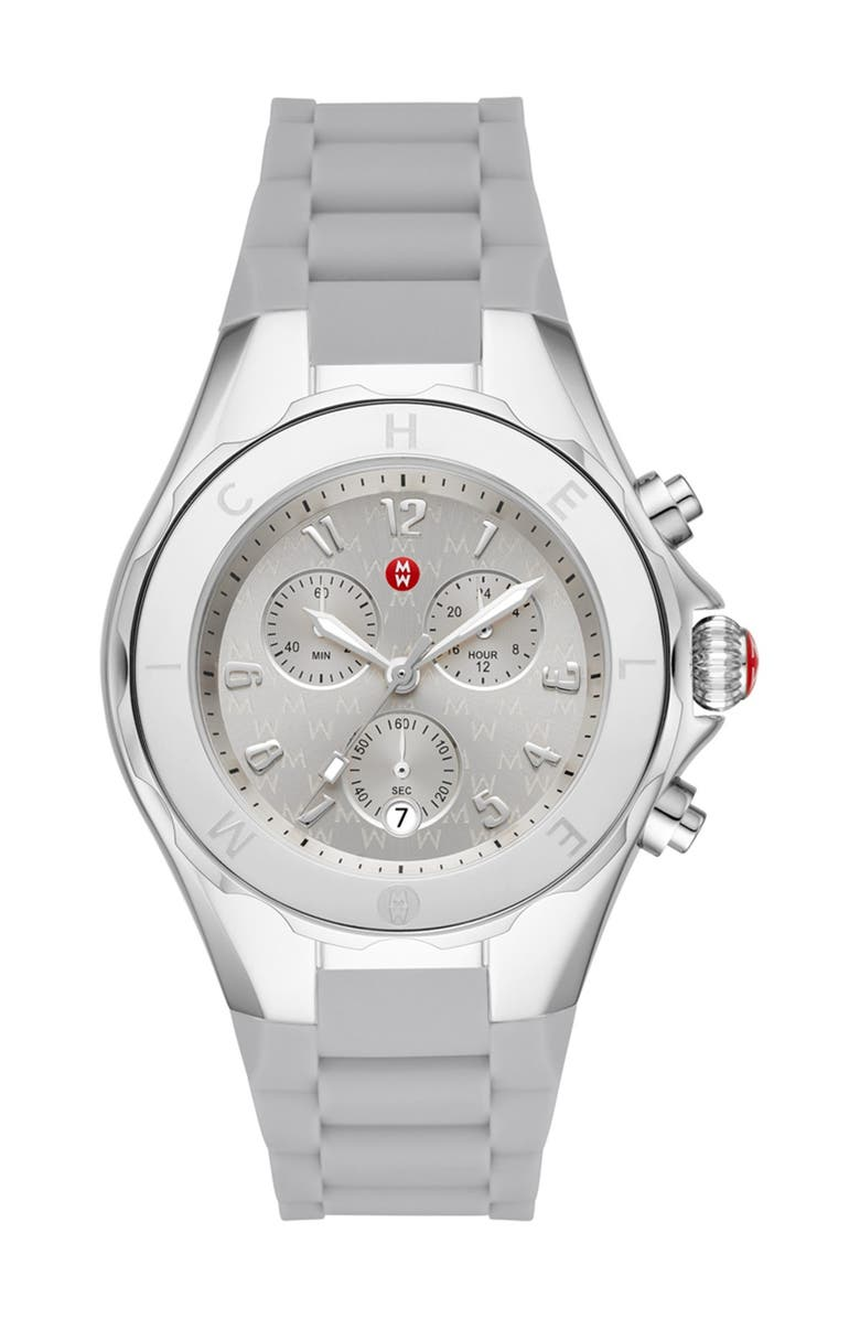 MICHELE Women's Grey Tahitan Jelly Bean Watch, 40mm, Main, color, NO COLOR