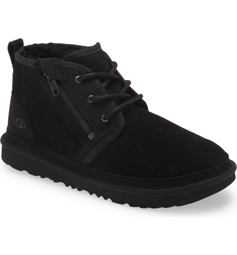 UGG<SUP>®</SUP> Neumal Water Resistant Leather Boot, Main, color, BLACK