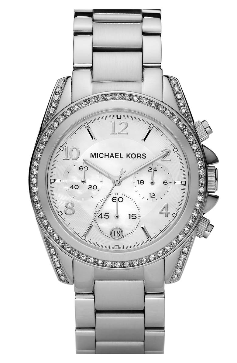 MICHAEL MICHAEL KORS Michael Kors 'Blair' Mother-of-Pearl Watch, Main, color, 040