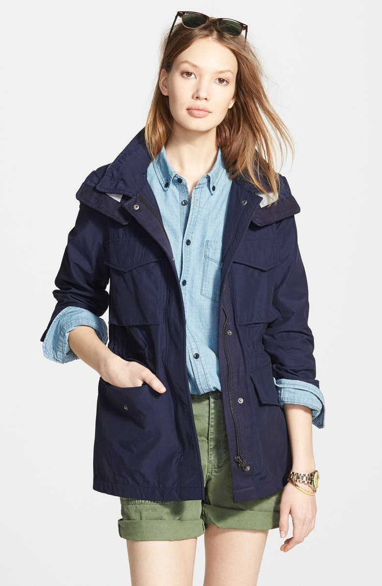 MADEWELL 'Fieldwalk' Hooded Jacket, Main, color, 400