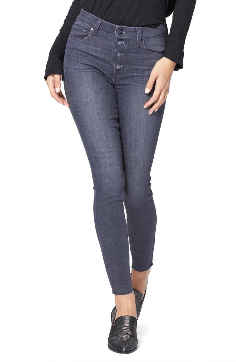 PAIGE Transcend Hoxton High Waist Ankle Skinny Jeans, Main, color, 020