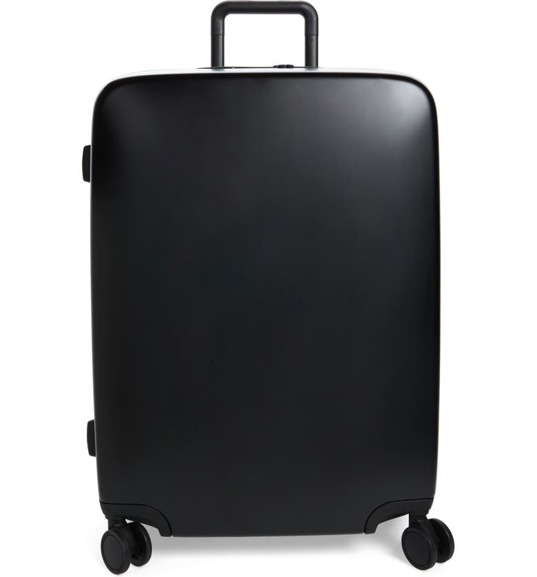 RADEN The A28 28-Inch Charging Wheeled Suitcase, Main, color, BLACK MATTE