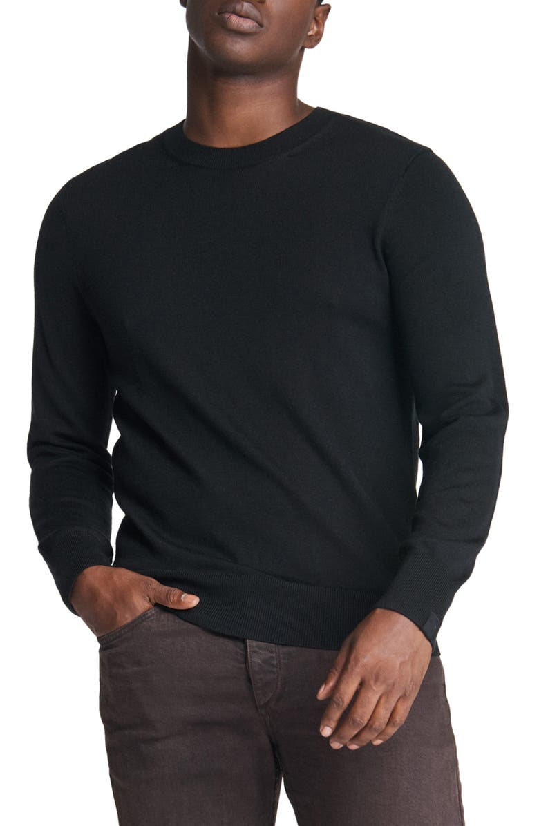 RAG & BONE Riley Merino Wool Blend Sweater, Main, color, BLACK
