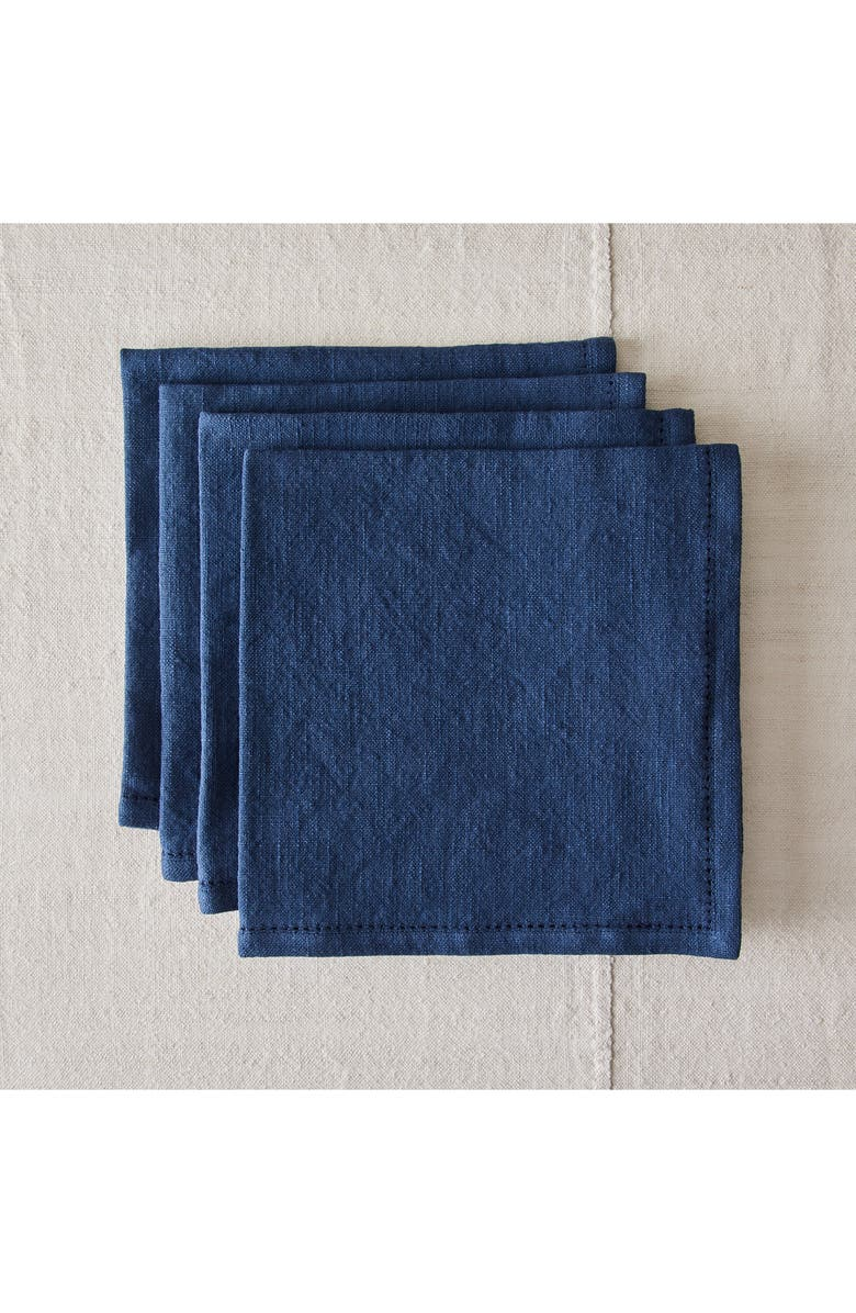 FIVE TWO BY FOOD52 Essential Set of 4 Cotton Napkins, Main, color, DENIM