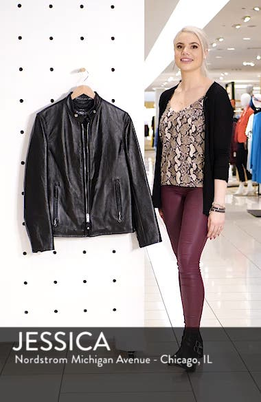 Café Racer Waxy Cowhide Leather Jacket, sales video thumbnail
