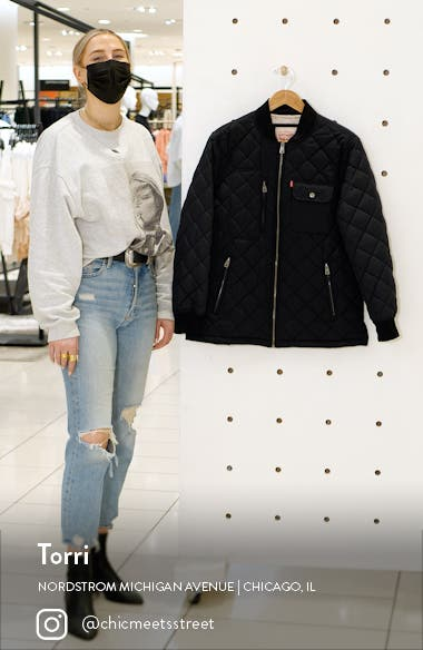 Diamond Quilted Oversize Jacket, sales video thumbnail