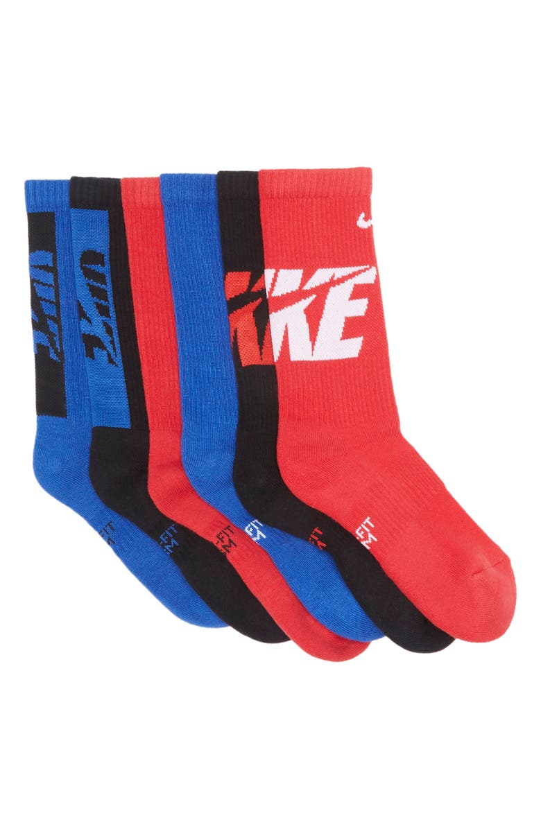 NIKE Everyday Cushioned Crew Socks - Pack of 6, Main, color, MULTI-COLOR