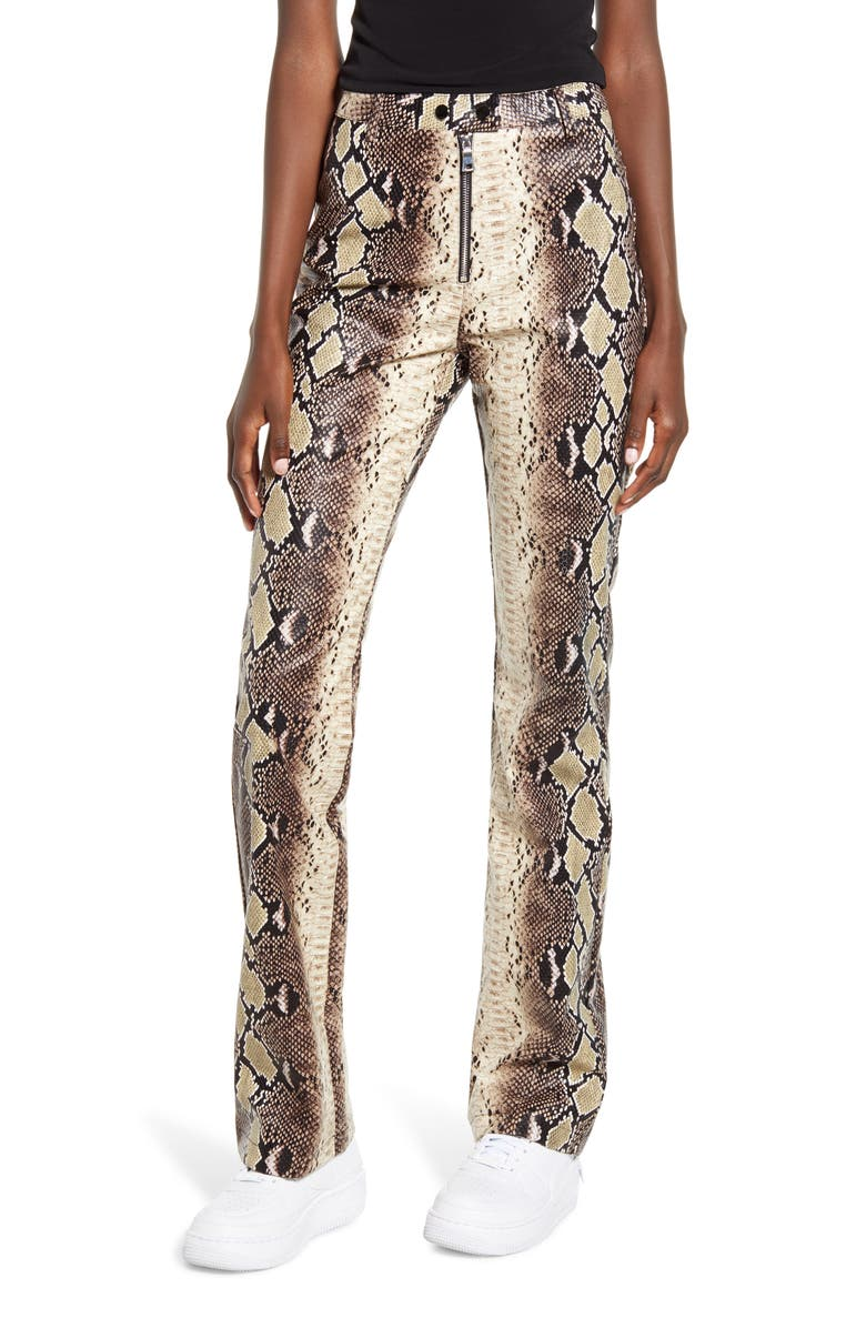 I.AM.GIA Brandy Snakeskin Print High Waist Pants, Main, color, 250