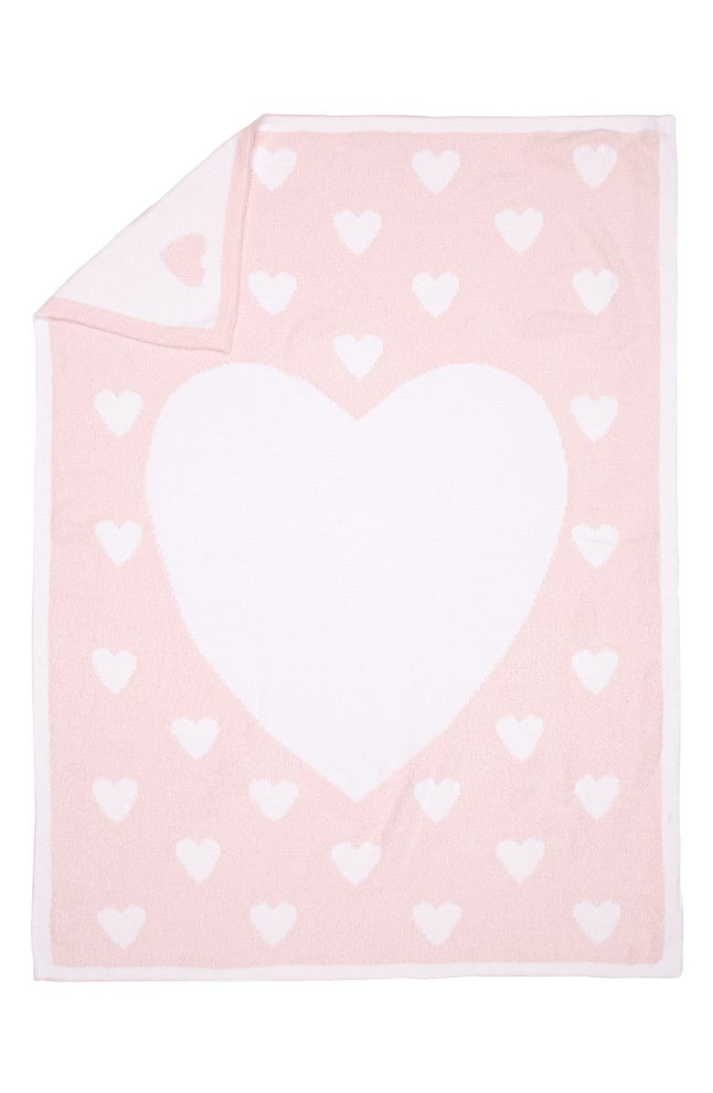 NORDSTROM BABY Chenille Blanket, Main, color, PINK BABY HEART