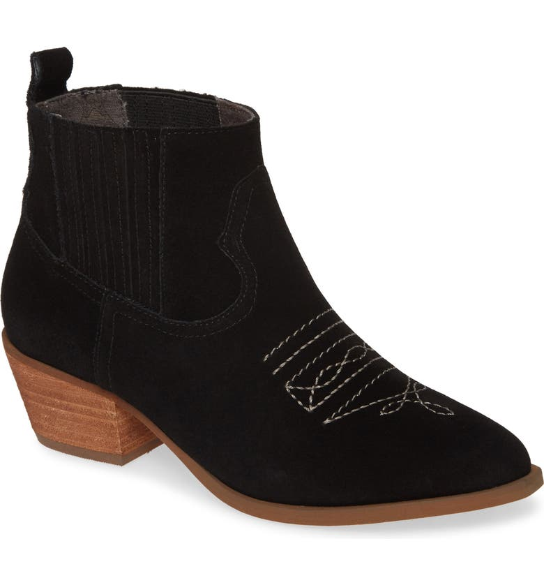 BAND OF GYPSIES Borderline Bootie, Main, color, BLACK SUEDE