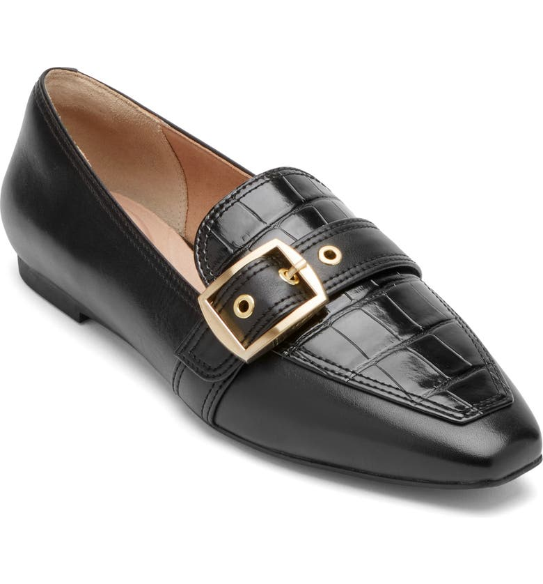 ROCKPORT Total Motion Laylani Loafer, Main, color, BLACK LEATHER