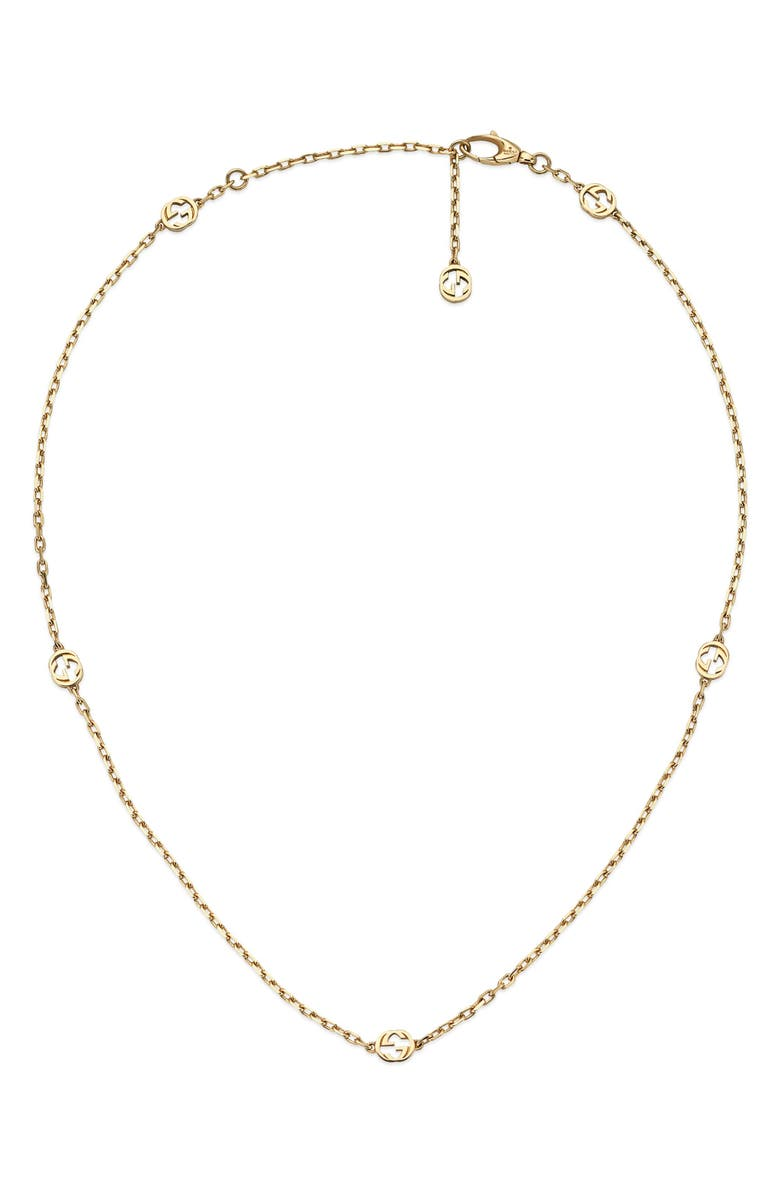 GUCCI Running G 18K Gold Necklace, Main, color, YELLOW GOLD