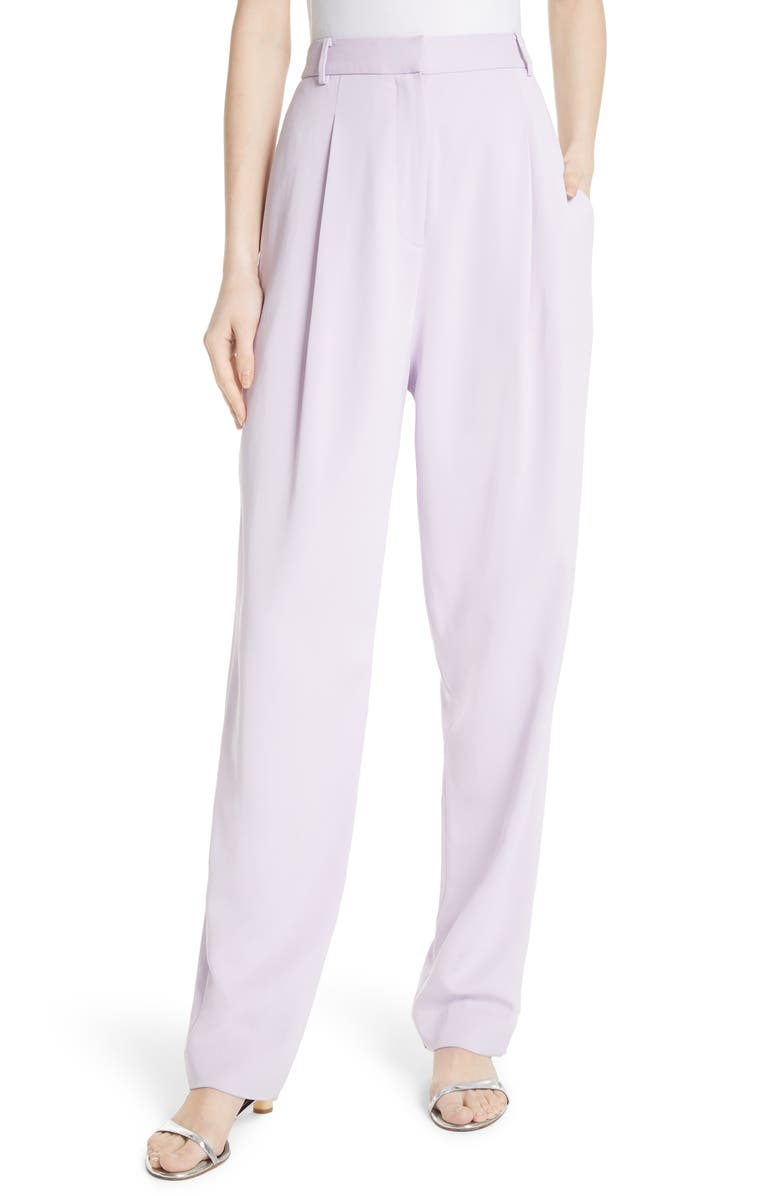 TIBI Sculpted Pleat Front Suit Pants, Main, color, 531