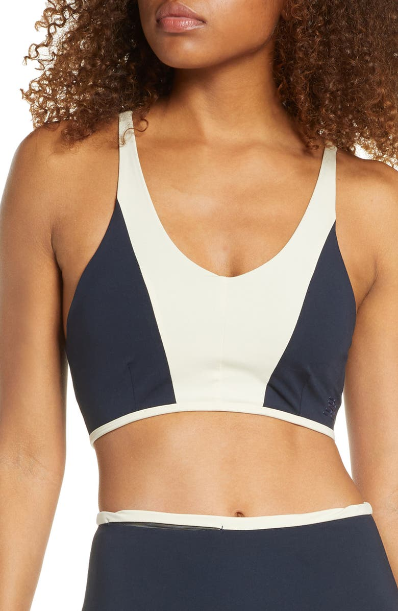NEW BALANCE Determined Legacy Sports Bra, Main, color, ECL