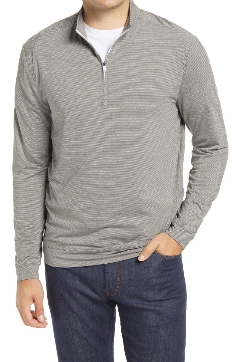 JOHNNIE-O Vaughn Classic Fit Quarter Zip Performance Pullover, Main, color, METEOR