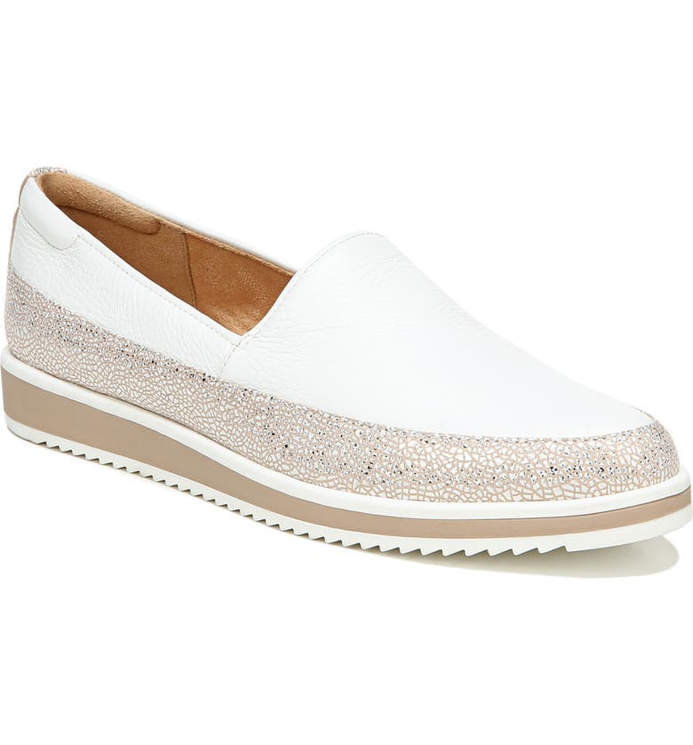 NATURALIZER Beale Flat, Main, color, WHITE LEATHER