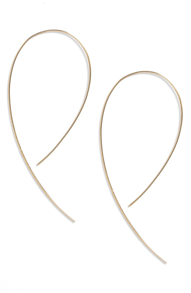 LANA JEWELRY 'Hooked on Hoop' Earrings, Main, color, YELLOW GOLD