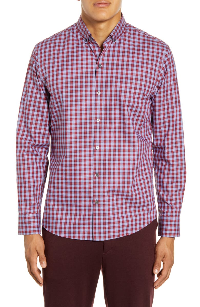 ZACHARY PRELL Lee Regular Fit Check Button-Down Shirt, Main, color, 600