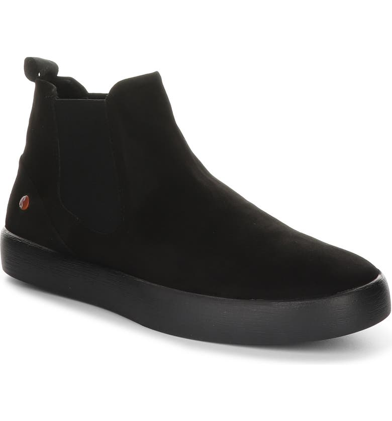 FLY LONDON Ryke Chelsea Boot, Main, color, BLACK SILKY LEATHER
