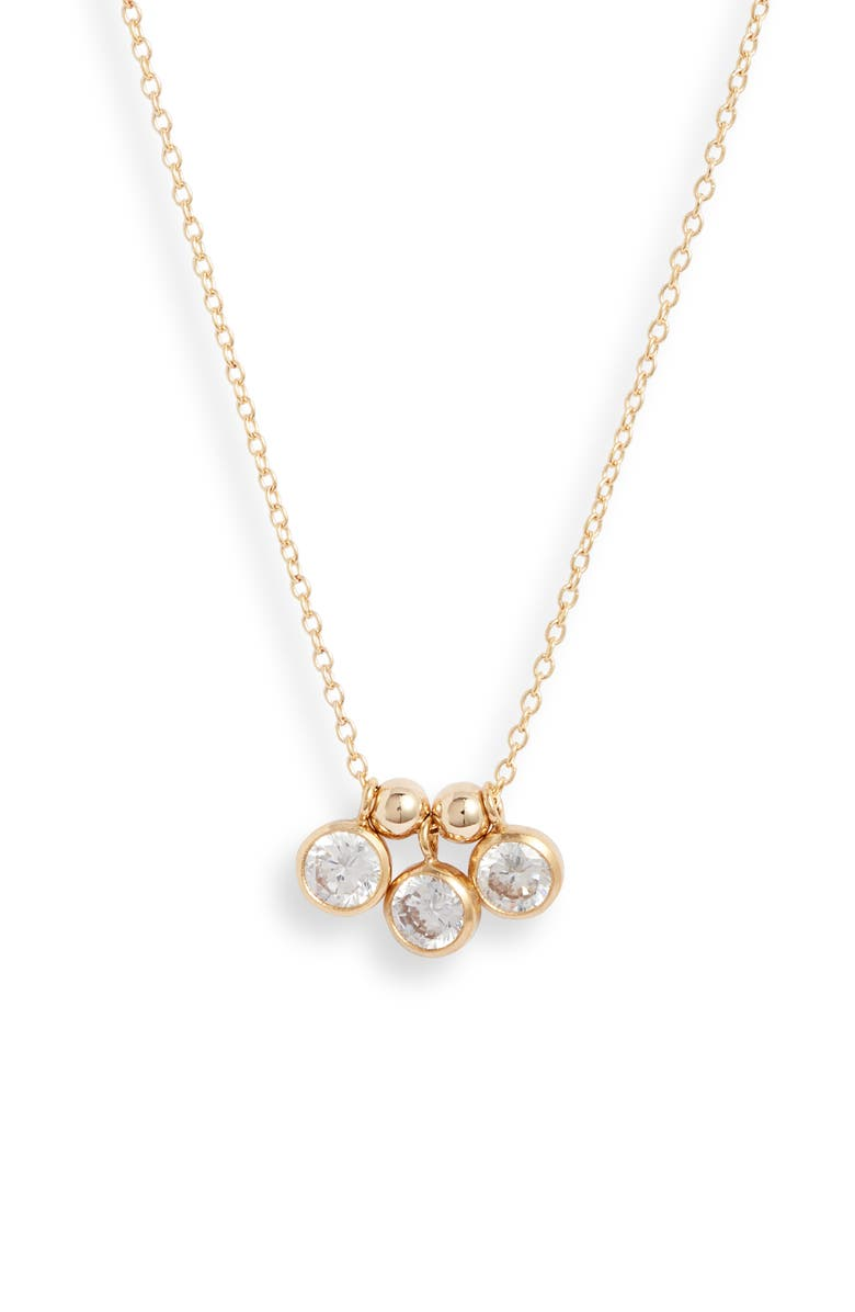 SET & STONES Poppy Cluster Necklace, Main, color, GOLD