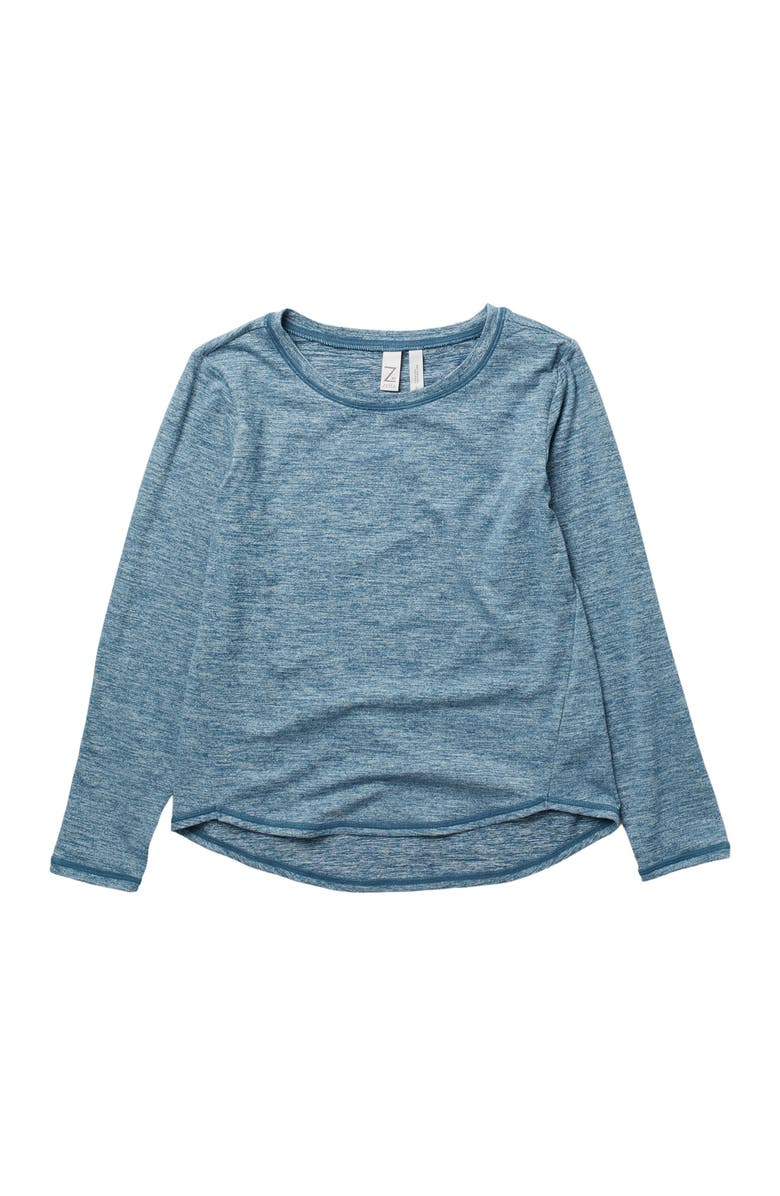 Z BY ZELLA GIRL Take A Hike Long Sleeve Top, Main, color, NAVY DENIM