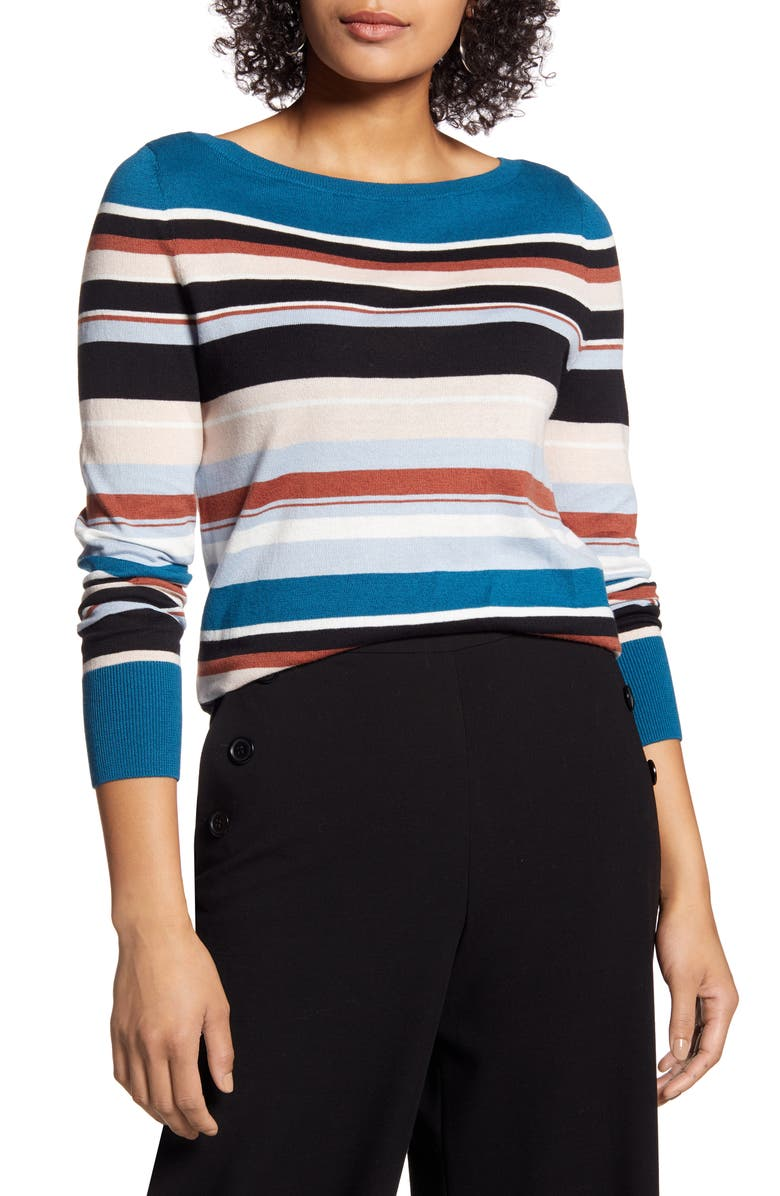 HALOGEN<SUP>®</SUP> Boat Neck Sweater, Main, color, 003