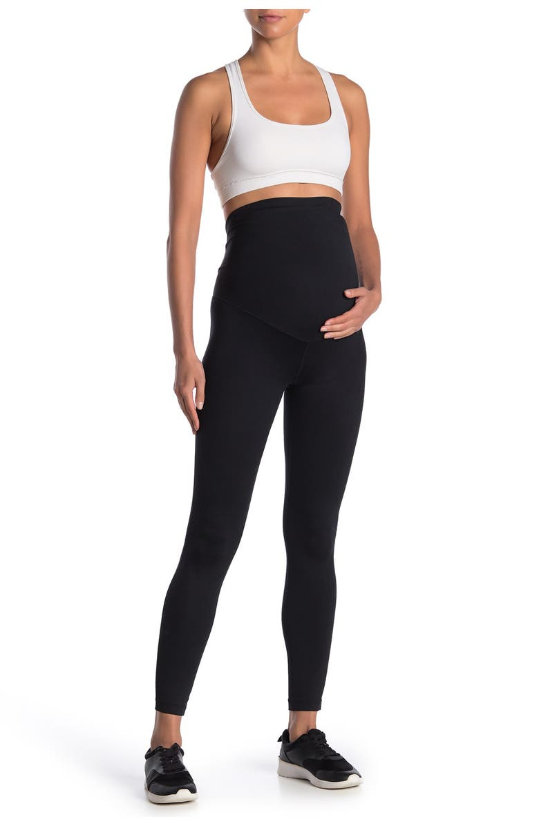 Z BY ZELLA Daily Ankle Maternity Leggings, Main, color, BLACK