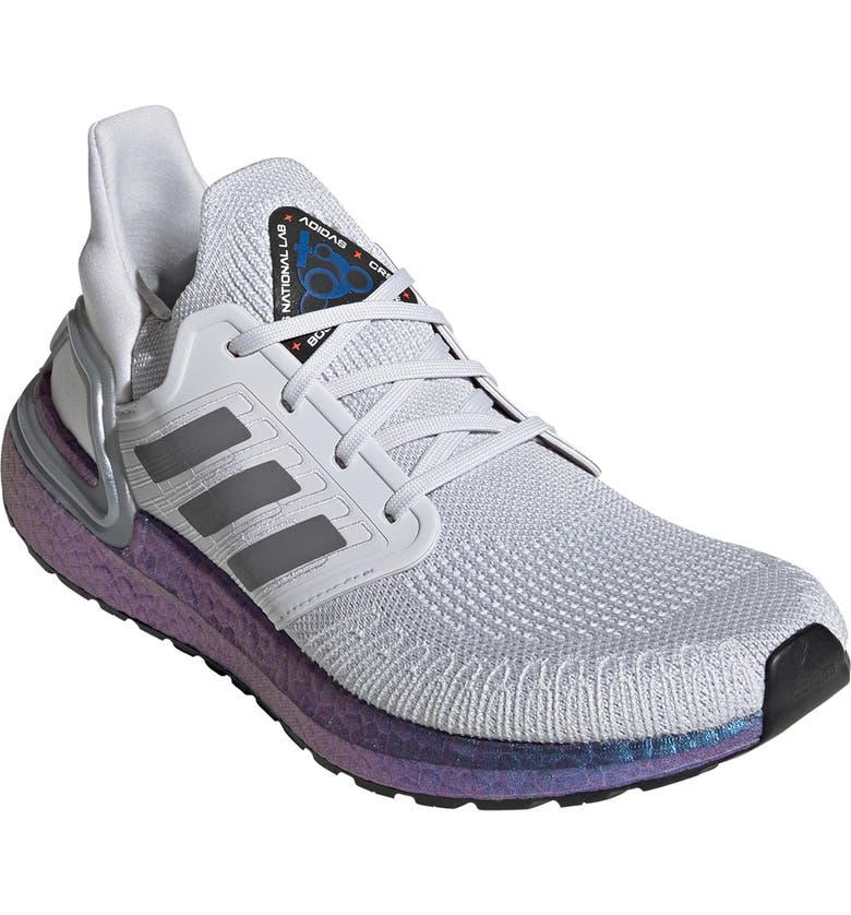 ADIDAS UltraBoost 20 Space Race Running Shoe, Main, color, DASH GREY/ BOOST BLUE VIOLET