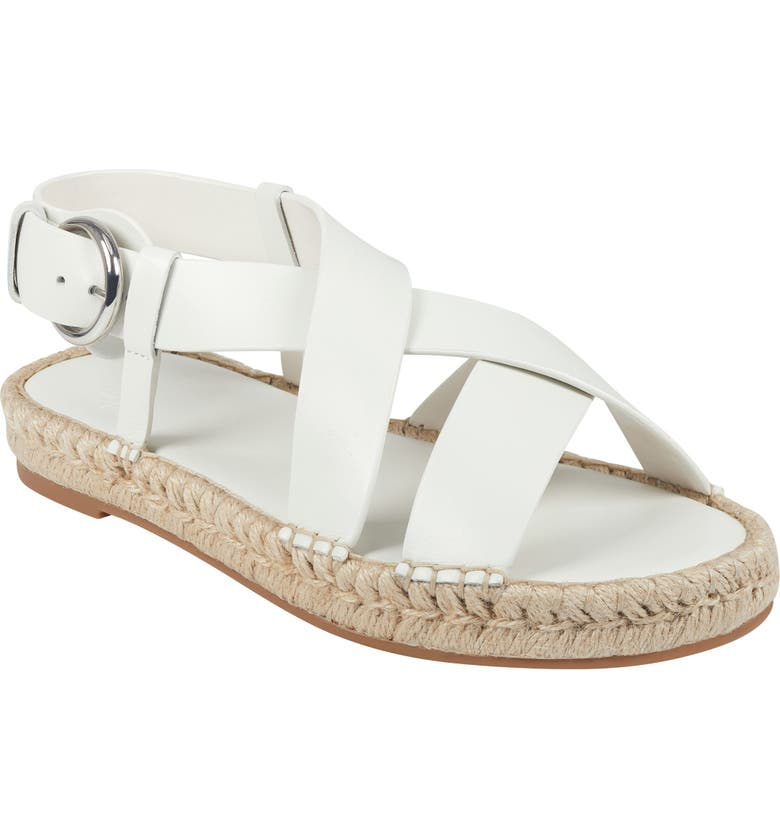 MARC FISHER LTD Tallia Espadrille Sandal, Main, color, CHIC CREAM LEATHER
