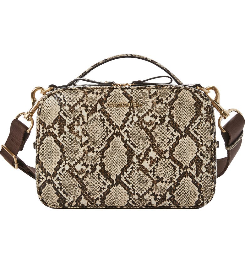 TWELVELITTLE Luxe Water Resistant Diaper Clutch, Main, color, TAUPE SNAKE SKIN