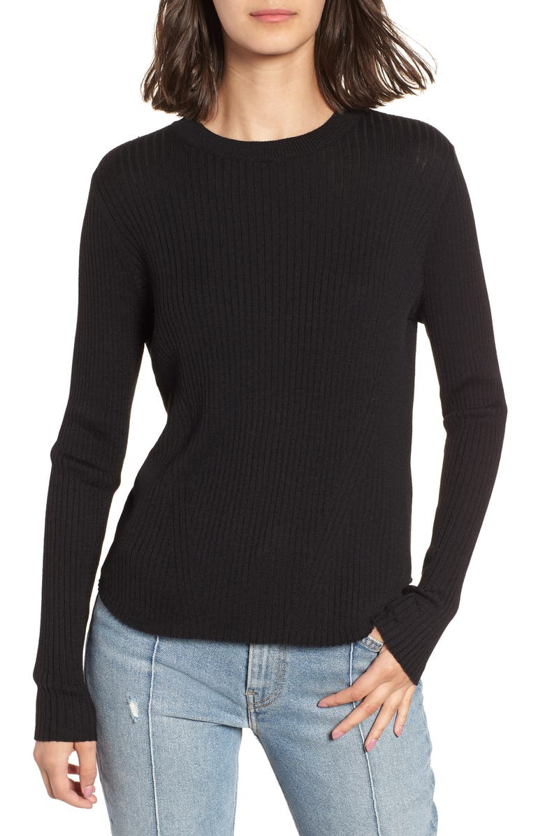 BP. Easy Ribbed Sweater, Main, color, 001
