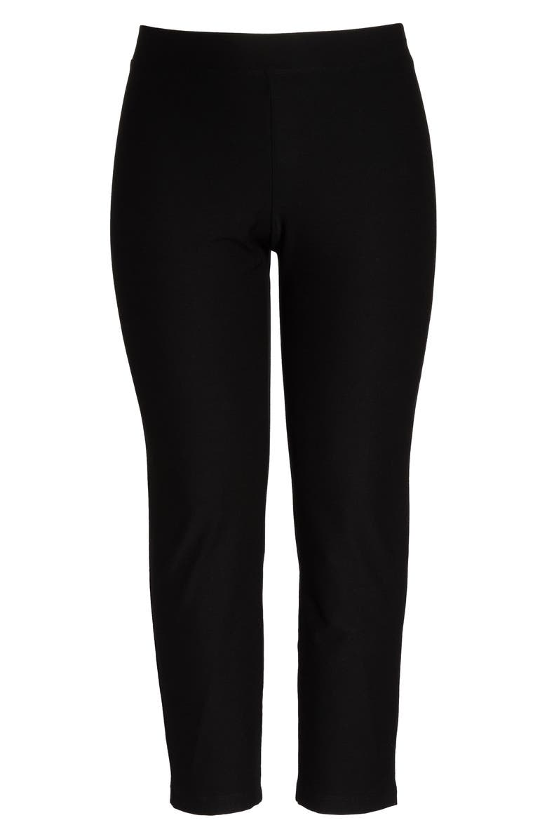 EILEEN FISHER Crepe Ankle Pants, Main, color, BLACK