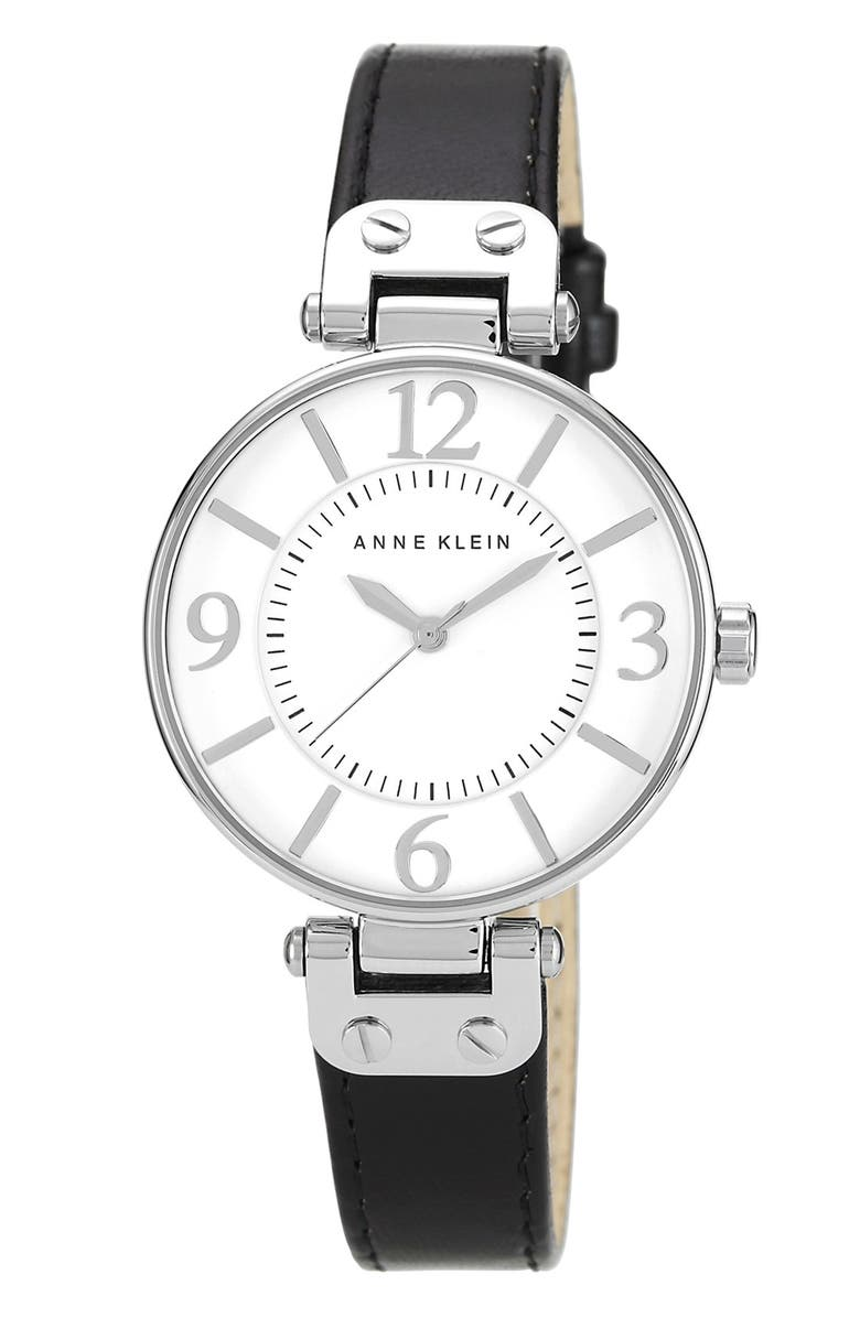 ANNE KLEIN Hinge Case Watch, 32mm, Main, color, 001