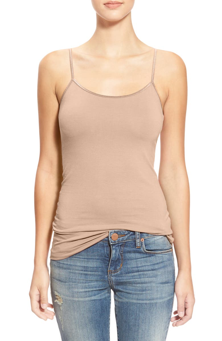 BP. Stretch Camisole, Main, color, TAN DOESKIN