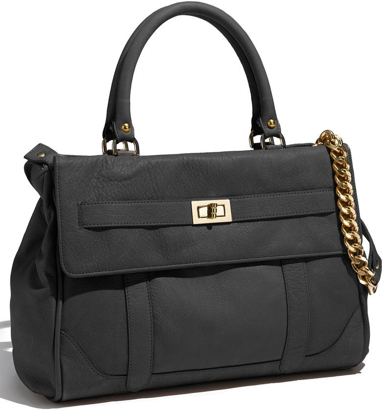 ROCCATELLA 'Jane' Belted Leather Satchel, Main, color, 001